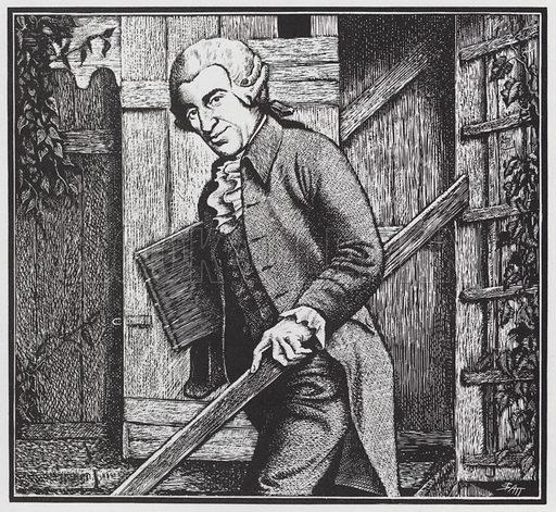 Joseph Haydn at his summer house