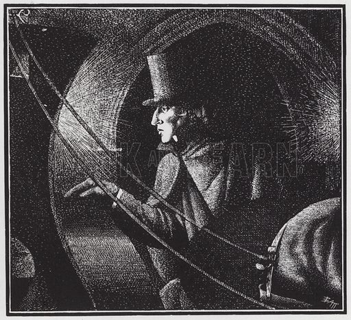 Frederic Chopin leaving his last concert, London, 1848