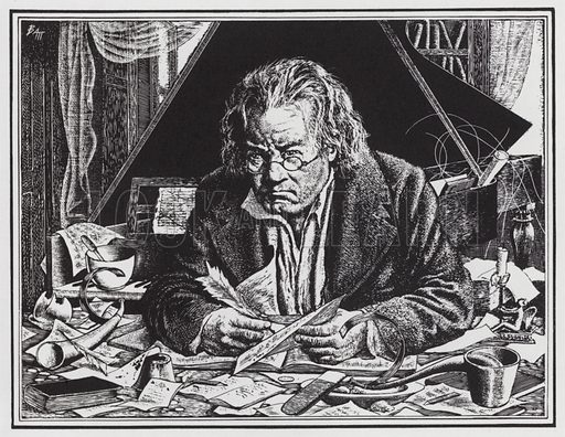 Ludwig van Beethoven towards the end of his life