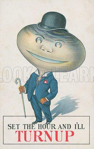 Man with a turnip head