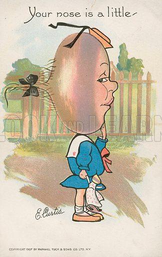 Girl with a turmip head