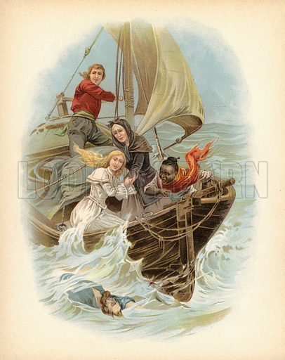 Illustration for Mr Midshipman Easy by Captain Marryat, Rewritten for Young People (Lothrop, 1899).