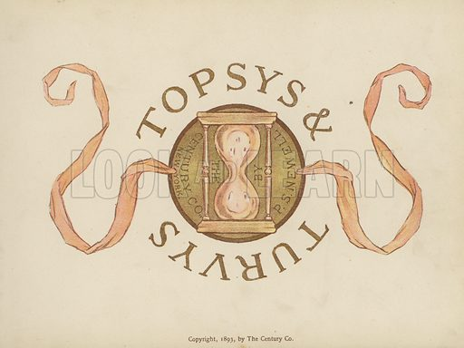 Title-page illustration for Topsys & Turvys by P S Newell (Century Co, New York, 1893).