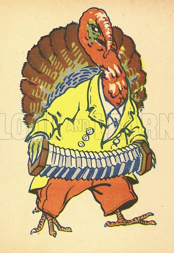 Turkey.  Illustration for Painting Book (np, c 1950).