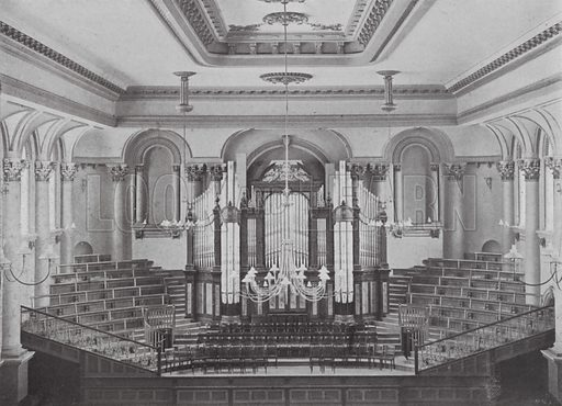 Interior Town Hall, Adelaide. Illustration for Souvenir of Adelaide (NSW Bookstall Co, c 1900). Photos by Ernest Gall (1863-1925).