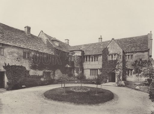 Manor House, Westwood, Near Bradford-on-Avon. Illustration for The Domestic Architecture of England during the Tudor Period by Thomas Garner and Arthur Stratton (Batsford, 1911). Gravure printed.