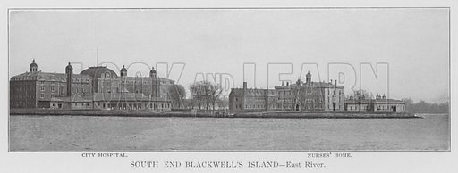 South End Blackwell's Island, East River. Illustration for Greater New York Illustrated (Rand, McNally, 1903). This work was originally published in 1897.