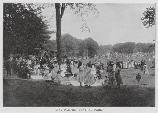 May Parties, Central Park. Illustration for Greater New York Illustrated (Rand, McNally, 1903). This work was originally published in 1897.
