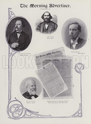 The Morning Advertiser. Illustration for Progress of British Newspapers in the Nineteenth Century, Illustrated (Simpkin, Marshall, Hamilton, Kent, c 1901).