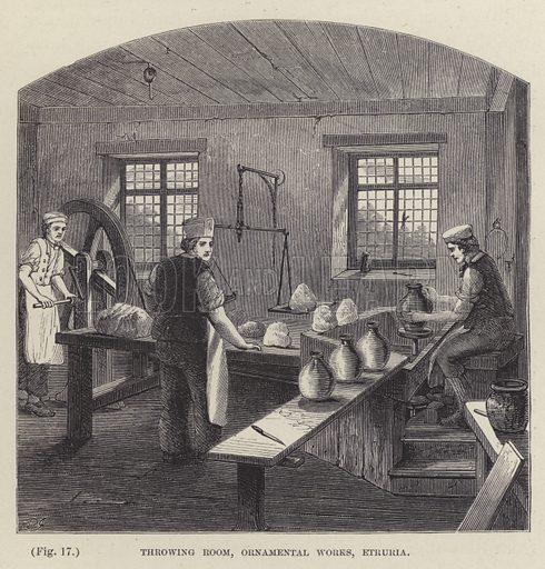 Throwing Room, Ornamental Works, Etruria. Illustration for The Life of Josiah Wedgwood by Eliza Meteyard (Hurst and Blackett, 1866).