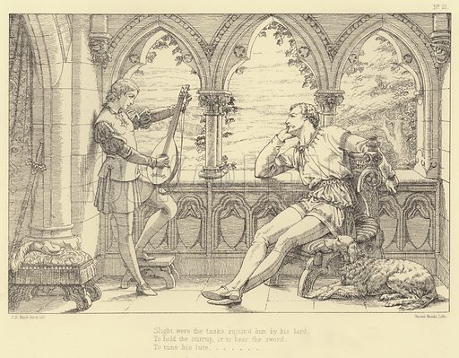 Illustration for Lara, A Tale by Lord Byron, illustrated by C B Birch (Art Union of London, 1879).