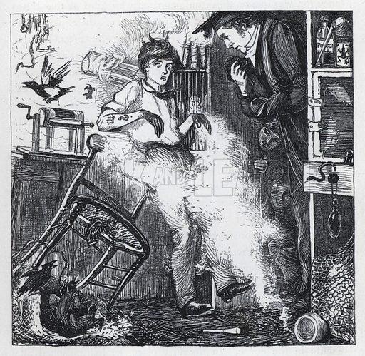 Illustration for Tom Brown's School Days (Macmillan, 1869).