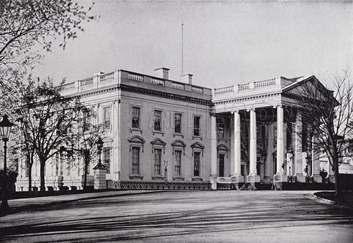 The White House, North Front. Illustration for Fifty Glimpses of Washington (Rand, McNally, 1896).