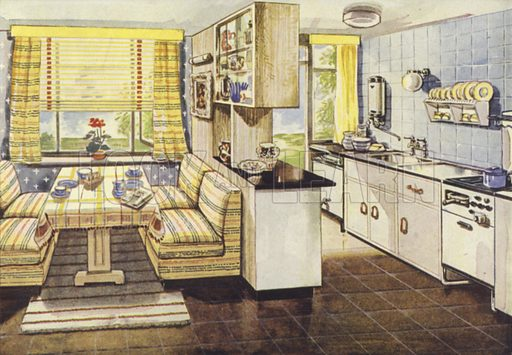 Gas kitchen with dining alcove