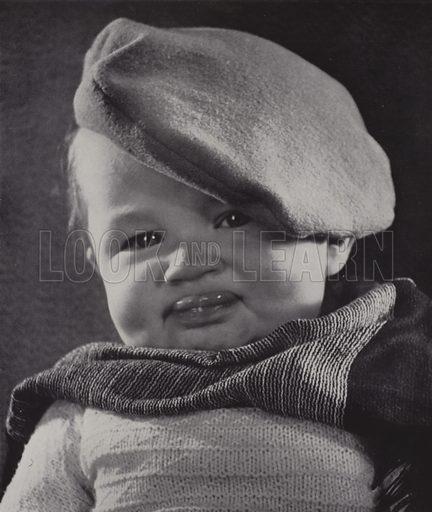 Tough Guy: portrait of a little boy wearing a beret