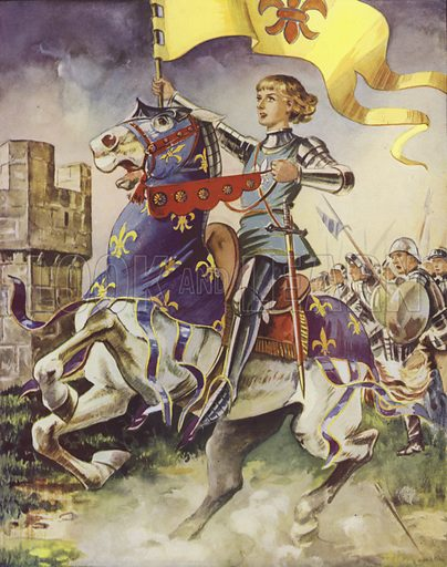 Joan of Arc at the Siege of Orleans, France, 1429