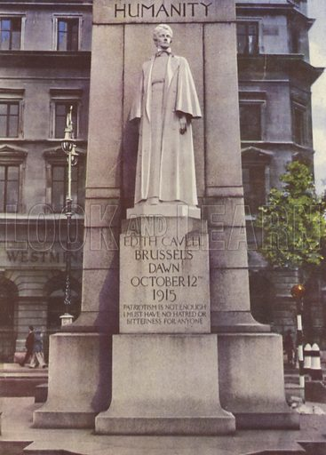 Edith Cavell Monument, St Martin's Place, London