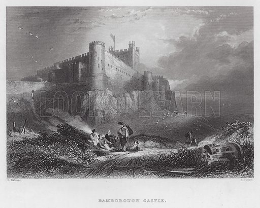 Bamborough Castle. Illustration for one of a collection of issues of The Weekly Welcome (S W Partridge, c 1877-1882).