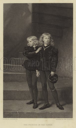 The Princes in the Tower. Illustration for The Art Journal, New Series (J S Virtue, 1884).