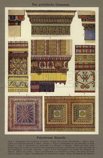 Das griechische Ornament, Polychrome Bauteile