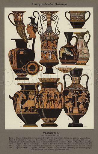 Das griechische Ornament, Vasentypen