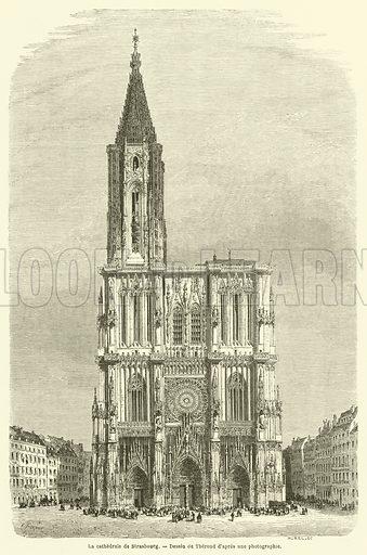 La cathedrale de Strasbourg. Illustration for Le Tour Du Monde (Hachette, 1861).