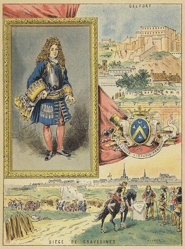 Sebastien Le Prestre De Vauban, 1633-1707. Illustration for Les Francais Illustres by Madame Gustave Demoulin (Hachette, 1889).