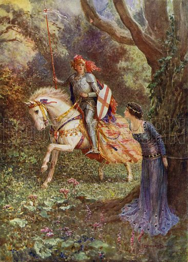 St George saw a lady of surpassing beauty