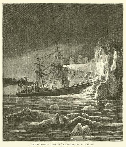 "The Steamship ""Arizona"" encountering an Iceberg"