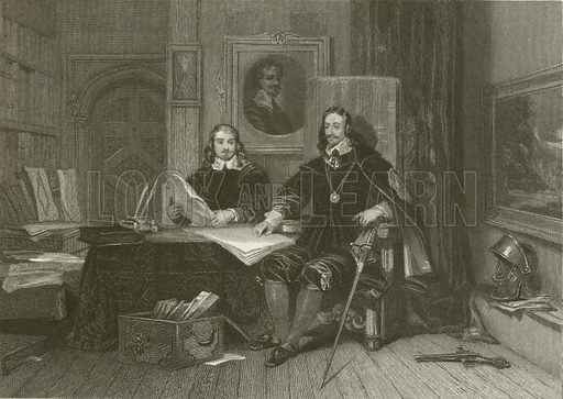 The King and Hyde at Oxford. Illustration for The Great Civil War of the times of Charles I and Cromwell by Richard Cattermole (Bohn, 1857).