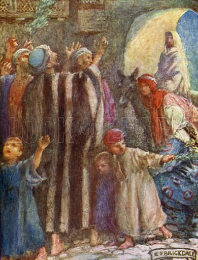 The King's Progress. Illustration for A Child's Life of Christ by Mabel Dearmer (Methuen, 1906).