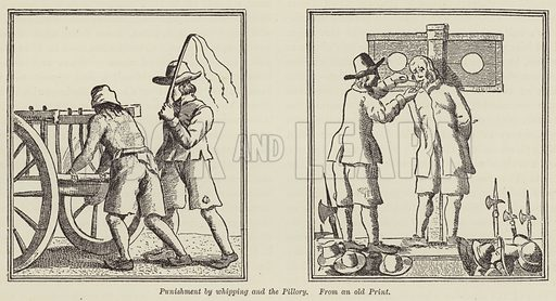 Punishment by whipping and the Pillory. Illustration for Bristol Past and Present by J F Nicholls and John Taylor (Arrowsmith, 1882).