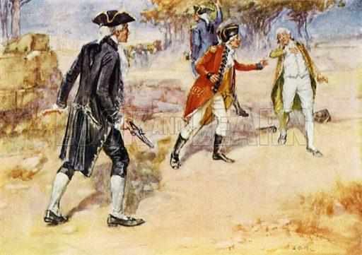 Duel between Warren Hastings and Philip Francis