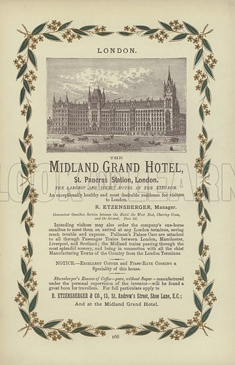 The Midland Grand Hotel. Page from London Illustrated A Complete Guide to The Places of Amusement (Henry Herbert, 1883).
