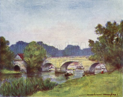 Wallingford. Illustration for The Thames by Mortimer Menpes, text by GE Mitton (A&C Black, 1906).