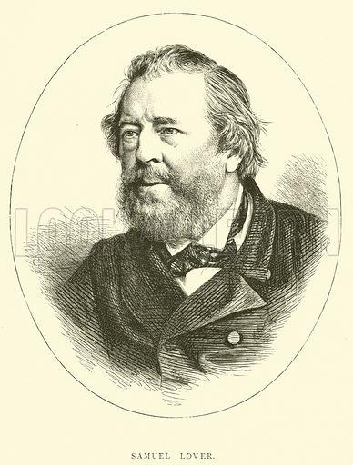 Samuel Lover. Illustration for Cassell's Penny Readings edited by Tom Hood (Cassell, c 1880).