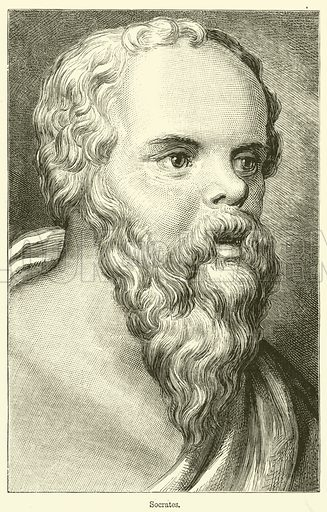 Socrates. Illustration for Chatterbox (1883).