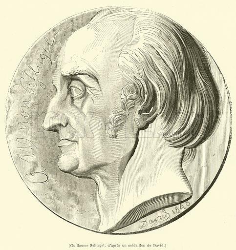 Guillaume Schlegel. Illustration for L'Illustration, Journal Universel, 24 May 1845.