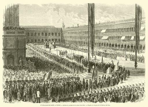 Funerailles de Manin, a Venise, Arrivee du cortege sur la place Saint-Marc