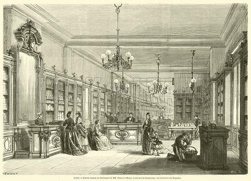 Paris, Grande maison de Parfumerie de MM Pinaud et Meyer, boulevard de Strasbourg, vue interieure des Magasins