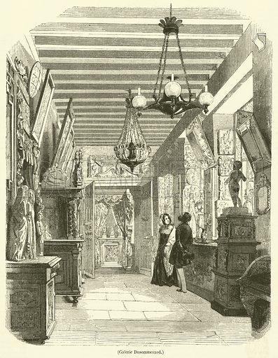 Galerie Dusommerard. Illustration for L'Illustration, Journal Universel, 3 June 1843.