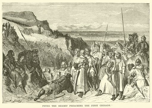 Peter the Hermit preaching the First Crusade