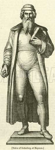 Statue of Gutenberg, at Mayence