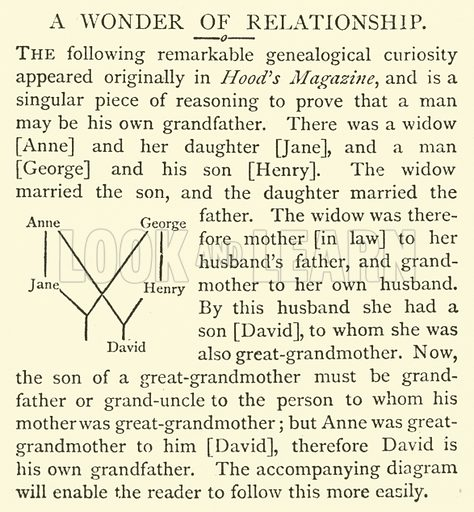 A Wonder of Relationship. Illustration for The World of Wonders (Cassell, 1888).