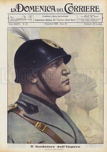 Il fondatore dell'Impero. Illustration for La Domenica del Corriere, 1 November 1936.