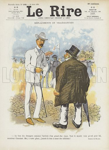 Illustration for Le Rire, 18 August 1906.