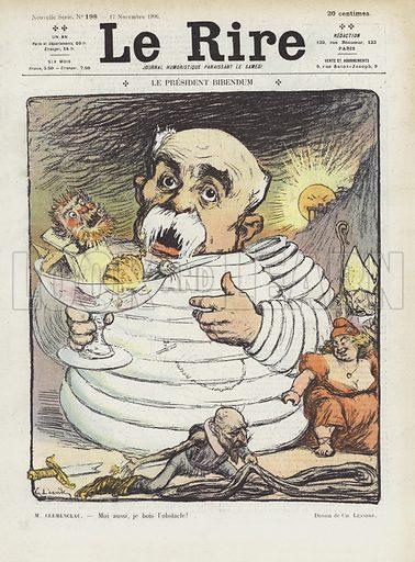 President Bibendum. Illustration for Le Rire.