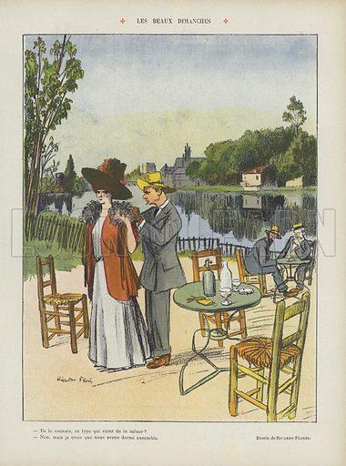 Illustration for Le Rire, 4 July 1908.