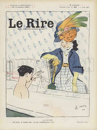 Illustration for Le Rire, 8 August 1908.
