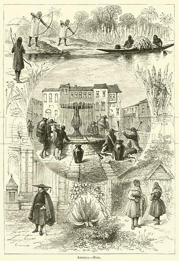 America, Peru. Illustration for Chatterbox (1881).